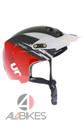 CASCO URGE ENDUR-O-MATIC FLASH ROJO Y NEGRO