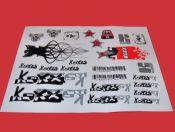 ADHESIVOS KOXX BIKE NEGRO ´08 - Adhesivos Koxx en color negro `08.