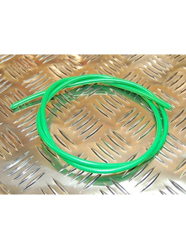 LATIGUILLO METALICO VERDE FLUO PARA HOPE - Latiguillo metálico en color verde
