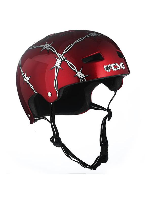 CASCO TSG BARBED WIRE TALLA S/M (56-57) - -Casco biketrial TSG Evolution Graphic Desing, Modelo Barbed Wire.