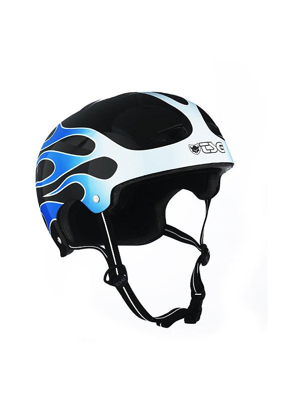 CASCO TSG BLUE FLAMES TALLA S/M (56-57) - -Casco biketrial TSG Evolution Graphic Desing, Modelo Blue Flames.