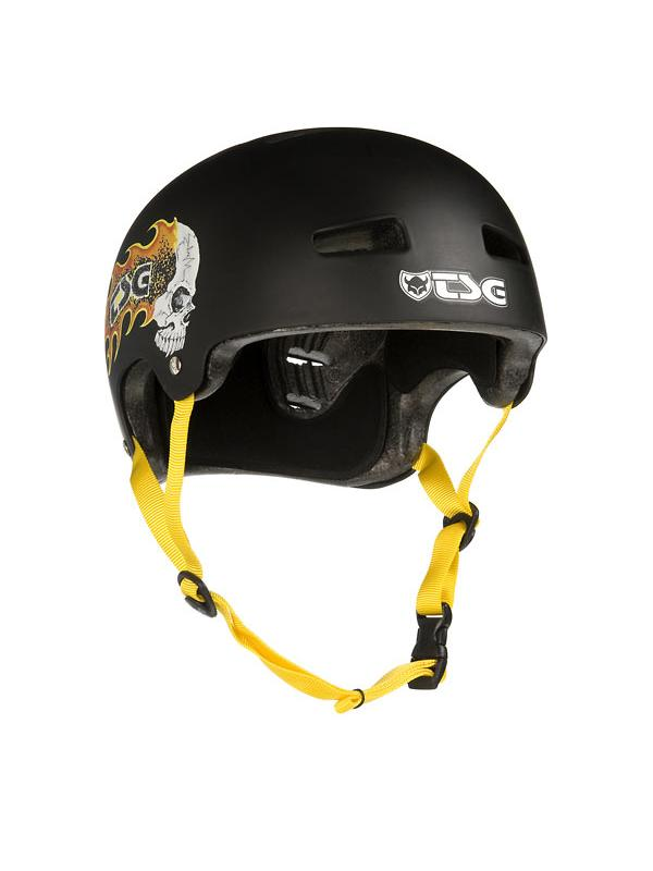 CASCO TSG BURNIG SKULL TALLA L/XL (58-59) - -Casco biketrial TSG Evolution Graphic Desing, Modelo Burnig Skull.