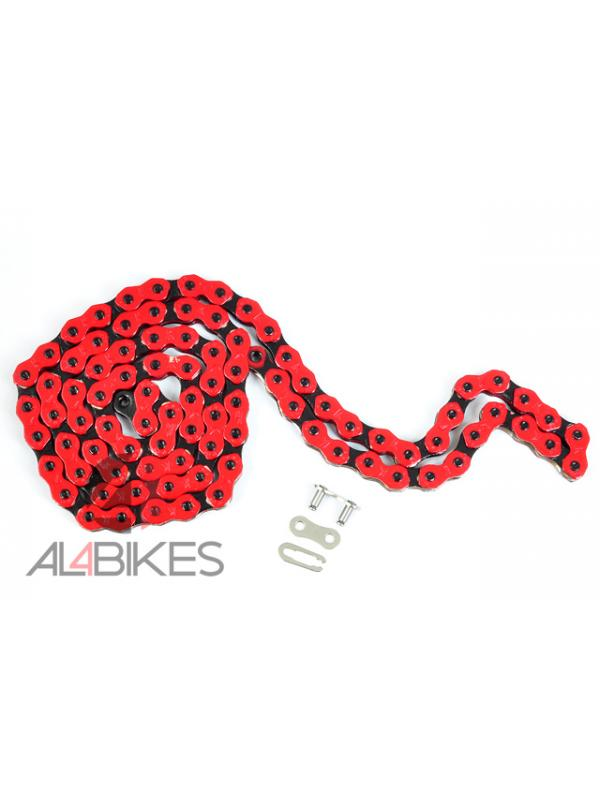 CADENA KMC COOL CHAIN 710 ROJA/NEGRA - Cadena KMC 45 eslabones Roja/Negra