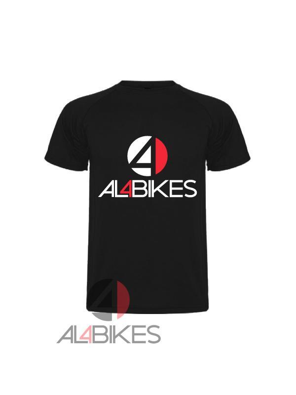 CAMISETA AL4BIKES BLACK - Camiseta Al4bikes Negra