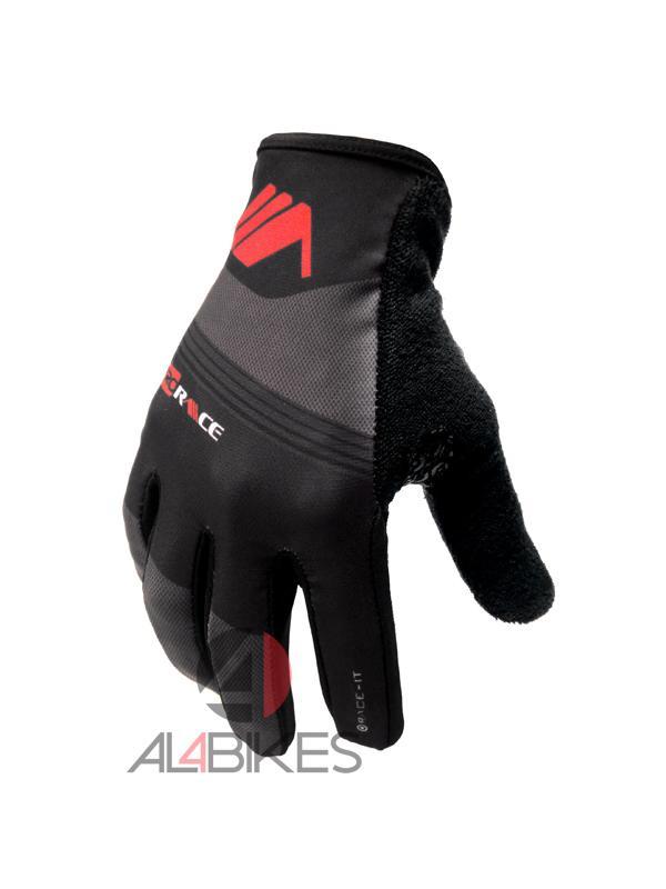 GUANTES PRORACE MONTY NEGRO/GRIS + PUÑOS DE REGALO - Nuevos guantes de competición diseñados y desarrollados para el uso de Trial Monty ProRace