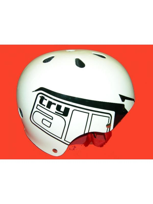 CASCO TRY ALL LOGO (NEGRO) T- S/M - -Casco biketrial Try All talla s/m(negro)