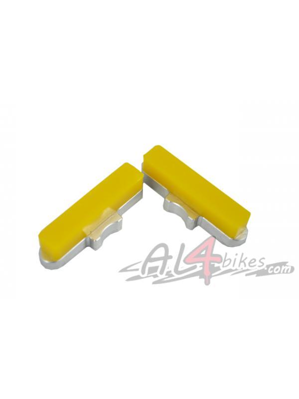 PASTILLAS HEATSINK CNC AMARILLO - Pastillas de freno Heatsink CNC Amarillas