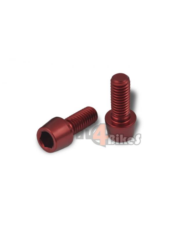 TORNILLO ALUMINIO ROJO M6X15 - Tornillo aluminio rojo M6x15