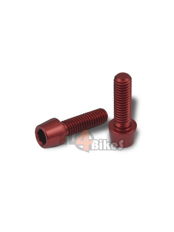 TORNILLO ALUMINIO ROJO M6X25 - Tornillo aluminio rojo M6x25