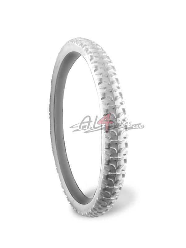 NEUMATICO BLANCO TRASERO STIKY TRY ALL 26X2.50 - Neumático blanco trasero Stiky try all 26X2.50.