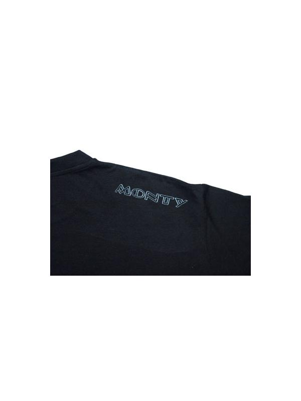 CAMISETA MONTY HUELLA - Camiseta Monty, negra con huella gris.