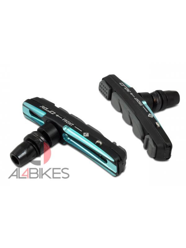 PASTILLAS V-BRAKE XLC CNC BLUE - Pastillas V-Brake XLC CNC Blue