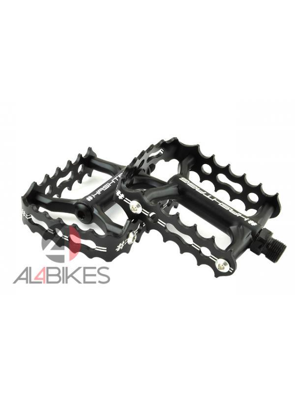 PEDALES HASHTAGG LSC ALUMINIO NEGRO 3MM - Nuevos pedales Hashtagg LSC ligeros de color negro