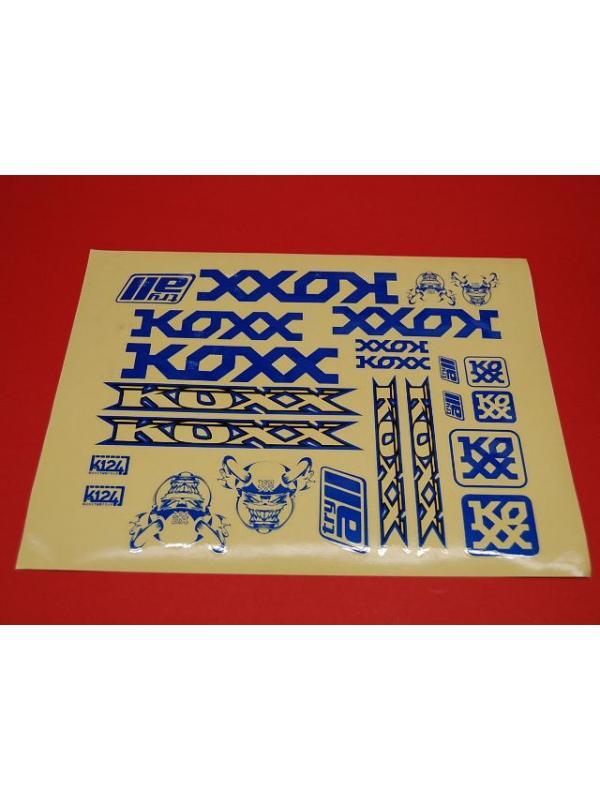 ADHESIVOS KOXX BIKE AZULES - Adhesivos Koxx en color azul