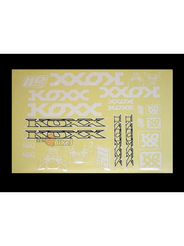ADHESIVOS KOXX BIKE BLANCO - Adhesivos Koxx en color blanco.