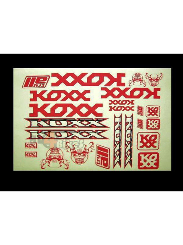 ADHESIVOS KOXX BIKE ROJOS - Adhesivos Koxx en color rojo.