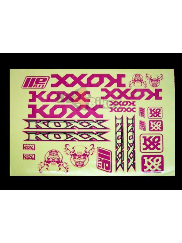 ADHESIVOS KOXX BIKE PURPURA - Adhesivos Koxx en color purpura.