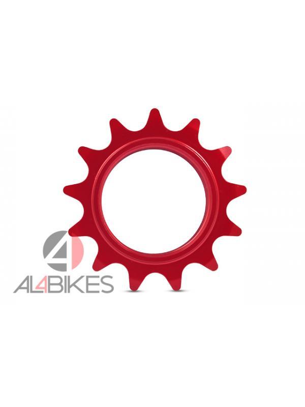 PIÑON 13T JITSIE ROJO ANONIZADO - Piñón 13T Jitsie Aluminio Rojo anonizado.