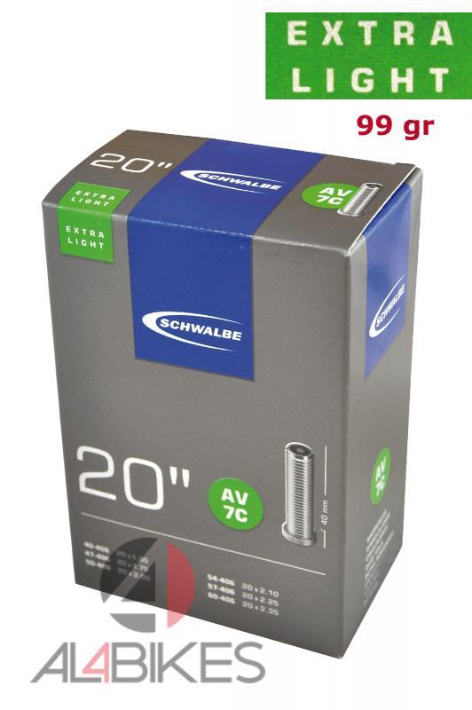CAMARA SCHWALBE SUPER LIGHT 20X1.75/2.35