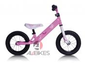 """PUSH BIKE REBEL KIDZ ROSA - Bici aprendizaje Rebel Kidz 12,5"""" Air Acero, mariposa rosa."""