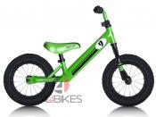 "PUSH BIKE REBEL KIDZ VERDE - Bici aprendizaje Rebel Kidz 12,5"" Air Acero, racing verde"