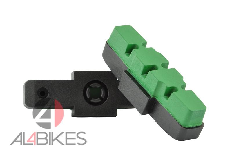 PASTILLAS XLC BS-X42 VERDES PARA HS  - Pastillas Hs XLC verdes para frenos hidráulicos